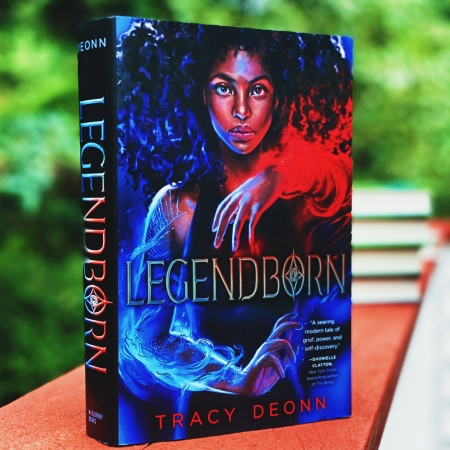 Picture of Legendborn by Tracy Deonn on a ledge.